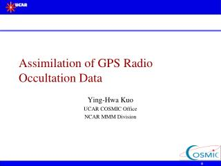 Assimilation of GPS Radio Occultation Data