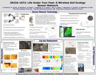 IN23A-1072: Life Under Your Feet: A Wireless Soil Ecology Sensor Network