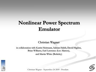 Nonlinear Power Spectrum Emulator