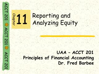 Reporting and               Analyzing Equity