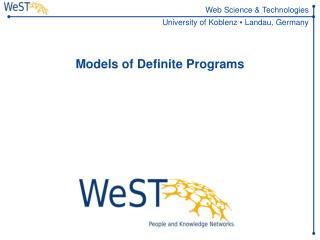 Models of Definite Programs