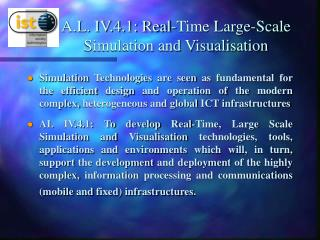 A.L. IV.4.1: Real-Time Large-Scale Simulation and Visualisation