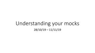 Understanding your mocks