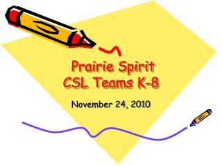 Prairie Spirit CSL Teams K-8