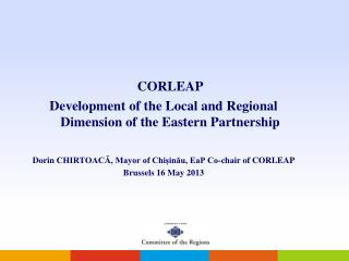 CORLEAP Development of the Local and Regional Dimension of the Eastern Partnership
