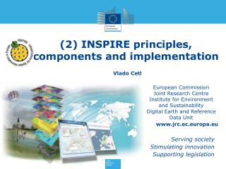 (2) INSPIRE principles, components and implementation