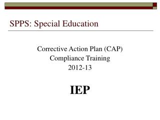 SPPS: Special Education