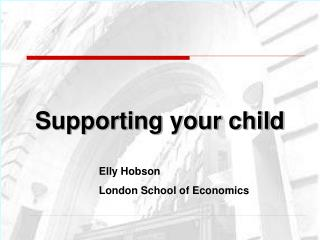 Supporting your child