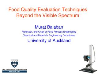 Food Quality Evaluation Techniques Beyond the Visible Spectrum