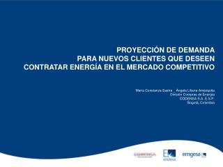 María Constanza Sastre _ Ángela Liliana Amézquita División Compras de Energía CODENSA S.A. E.S.P.
