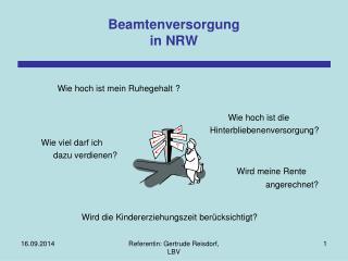 Beamtenversorgung in NRW