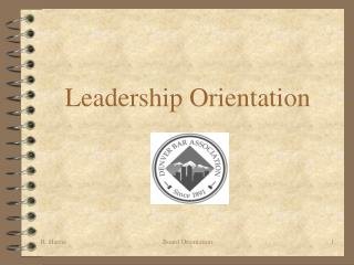 Leadership Orientation
