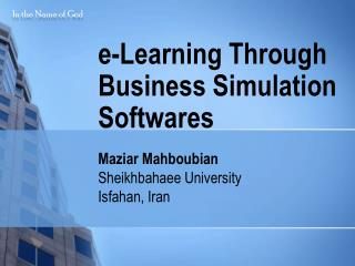 e-Learning Through Business Simulation Softwares