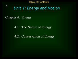 Chapter 4: Energy