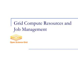 Grid Compute Resources and Job Management