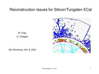 Reconstruction Issues for Silicon/Tungsten ECal