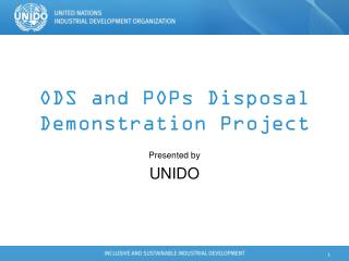 ODS and POPs Disposal Demonstration Project