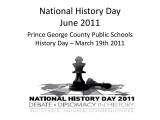 National History Day June 2011