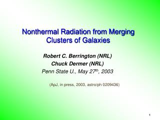 Nonthermal Radiation from Merging Clusters of Galaxies