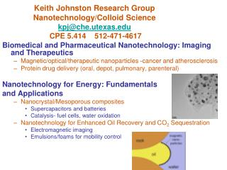 Biomedical and Pharmaceutical Nanotechnology: Imaging and Therapeutics