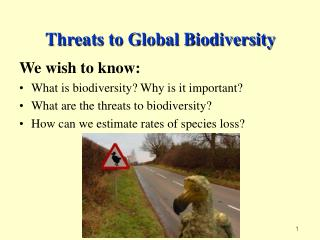 Threats to Global Biodiversity