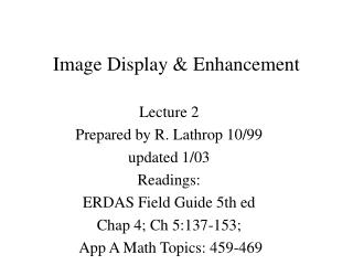Image Display & Enhancement