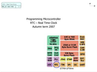 Programming Microcontroller RTC – Real Time Clock Autumn term 2007