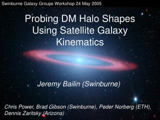 Probing DM Halo Shapes Using Satellite Galaxy Kinematics