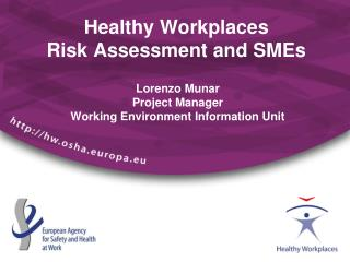Healthy Workplaces Risk Assessment and SMEs