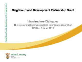 Neighbourhood Development Partnership Grant