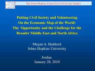 Putting Civil Society and Volunteering On the Economic Map of the World: