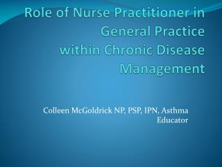 Role of Nurse Practitioner in General Practice within Chronic Disease Management