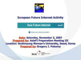 European Future Internet Activity