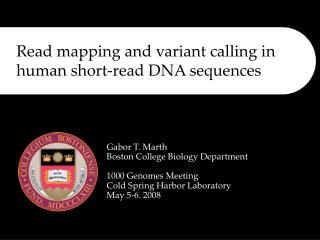 Read mapping and variant calling in human short-read DNA sequences