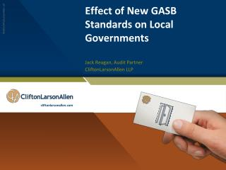 Effect of New GASB Standards on Local Governments