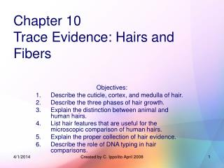 Chapter 10 Trace Evidence: Hairs and Fibers