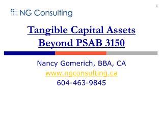 Tangible Capital Assets Beyond PSAB 3150