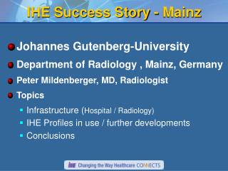 IHE Success Story - Mainz