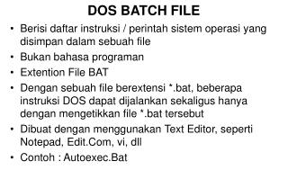 DOS BATCH FILE