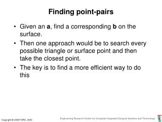 Finding point-pairs
