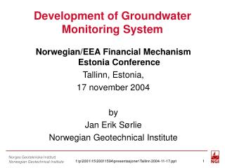 Development of Groundwater Monitoring System