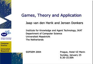 Games, Theory and Application