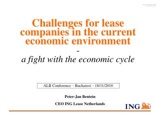 Peter-Jan Bentein CEO ING Lease Netherlands
