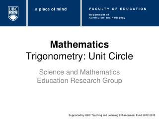 Mathematics Trigonometry: Unit Circle