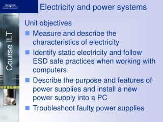 Electricity and power systems