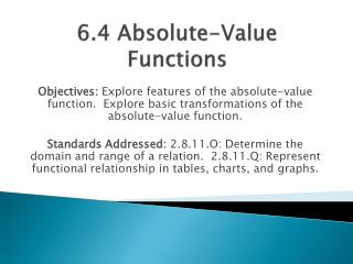 6.4 Absolute-Value Functions