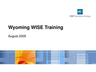 Wyoming WISE Training