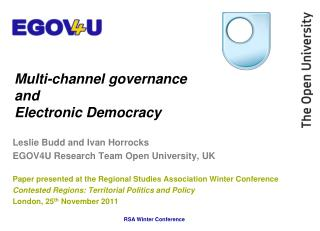 Multi-channel governance  and  Electronic Democracy