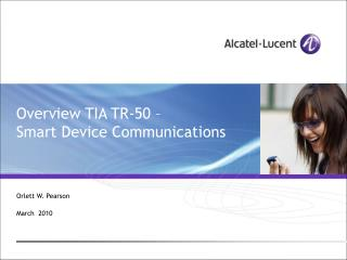 Overview TIA TR-50   Smart Device Communications