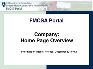 Company: Home Page Overview